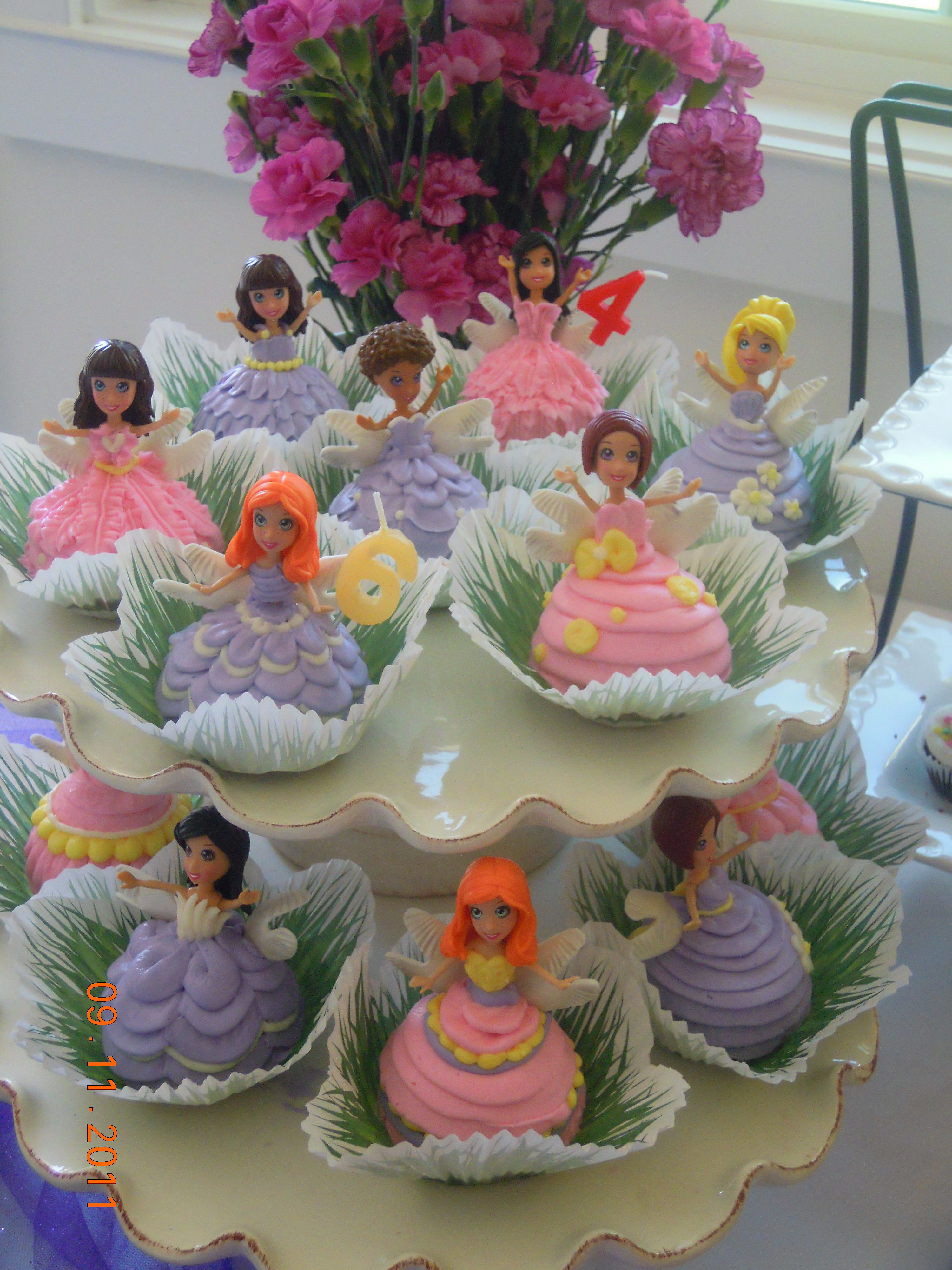 Fairy Party Cupcakes Polly Pocket Dolls Cupcake Party