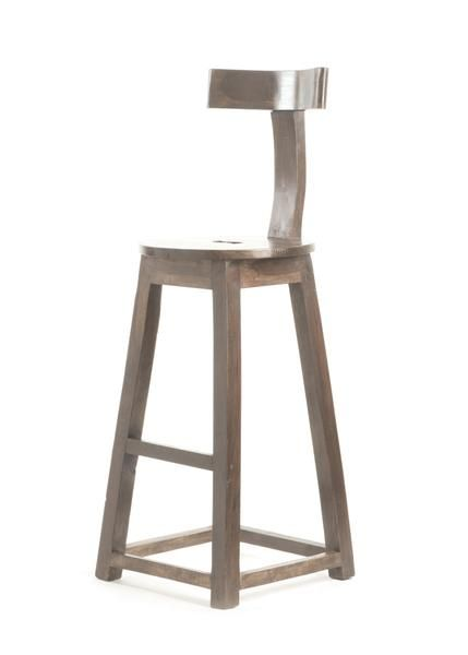 26 Inch Seat Height Rustic Wooden Bar Stool Set Of 2 Wooden