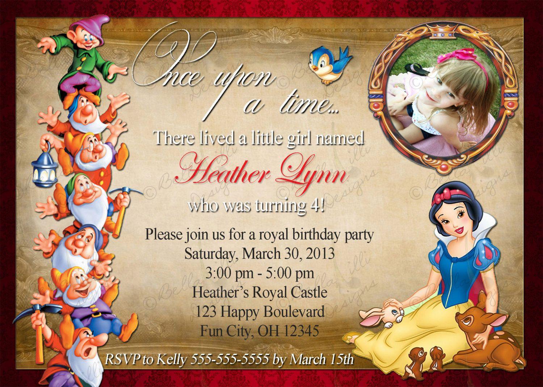 Snow White Birthday Invitation by BellaLilliDesigns on ...