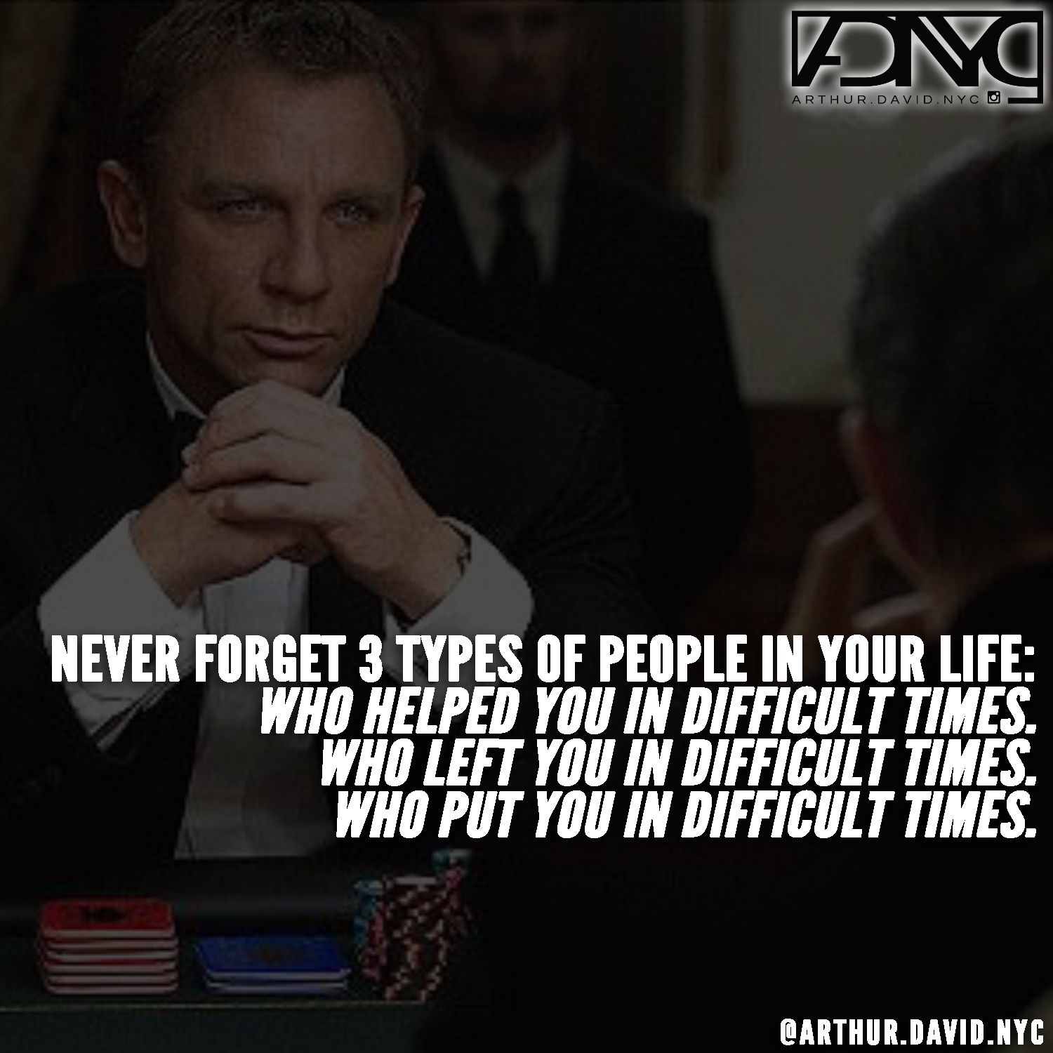 Bond Quotes Stunning Never Forget 3 Types Of People In Your Life Bond 007  James