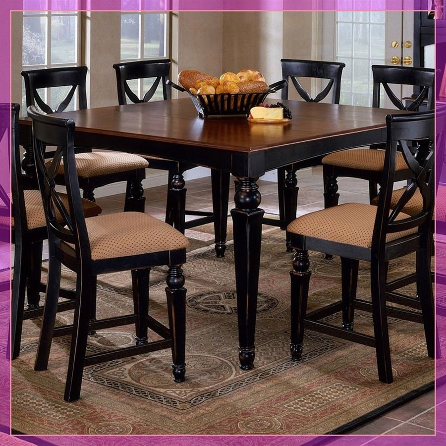 143 Reference Of High Chair Dining Room Furniture In 2020 Black Kitchen Table Square Kitchen Tables Top Kitchen Table