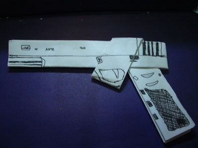 Origami Gun Diy Projects Pinterest Origami And Guns