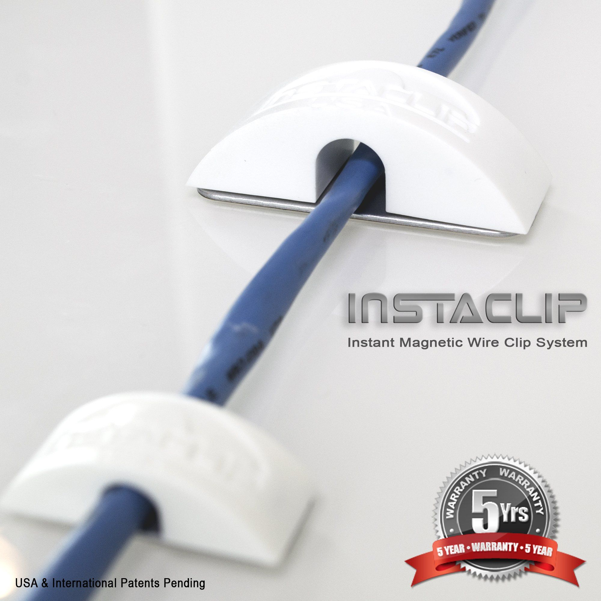 PACK of InstaClip Instant Magnetic Stick On Anything Permanent but ...