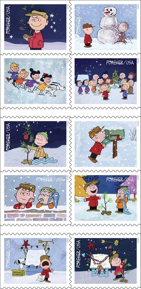 Charlie Brown Christmas Forever stamps | Snoopy Stuff | Pinterest ...