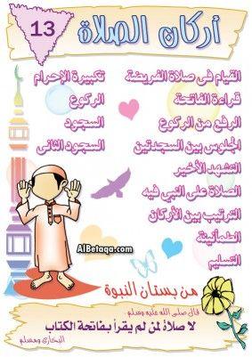 اركان الصلاه Islam For Kids Islam Beliefs Islam Facts