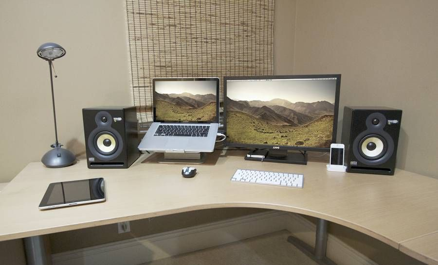 Ordinary Laptop Desk Setup Laptop Monitor Setup Home Studio Setup Home Recording Studio Setup Office Workspace