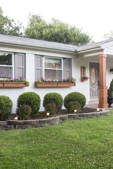 DIY Cedar Window Planters
