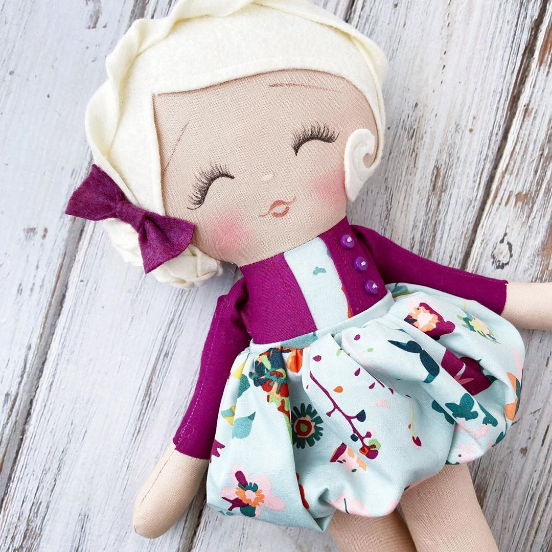 "SpunCandy Dolls⭐️ on Instagram: ""Just as sweet as she can be. Available in the shop! 💜🍁 #spuncandydolls #modernragdoll #momswithcameras"""