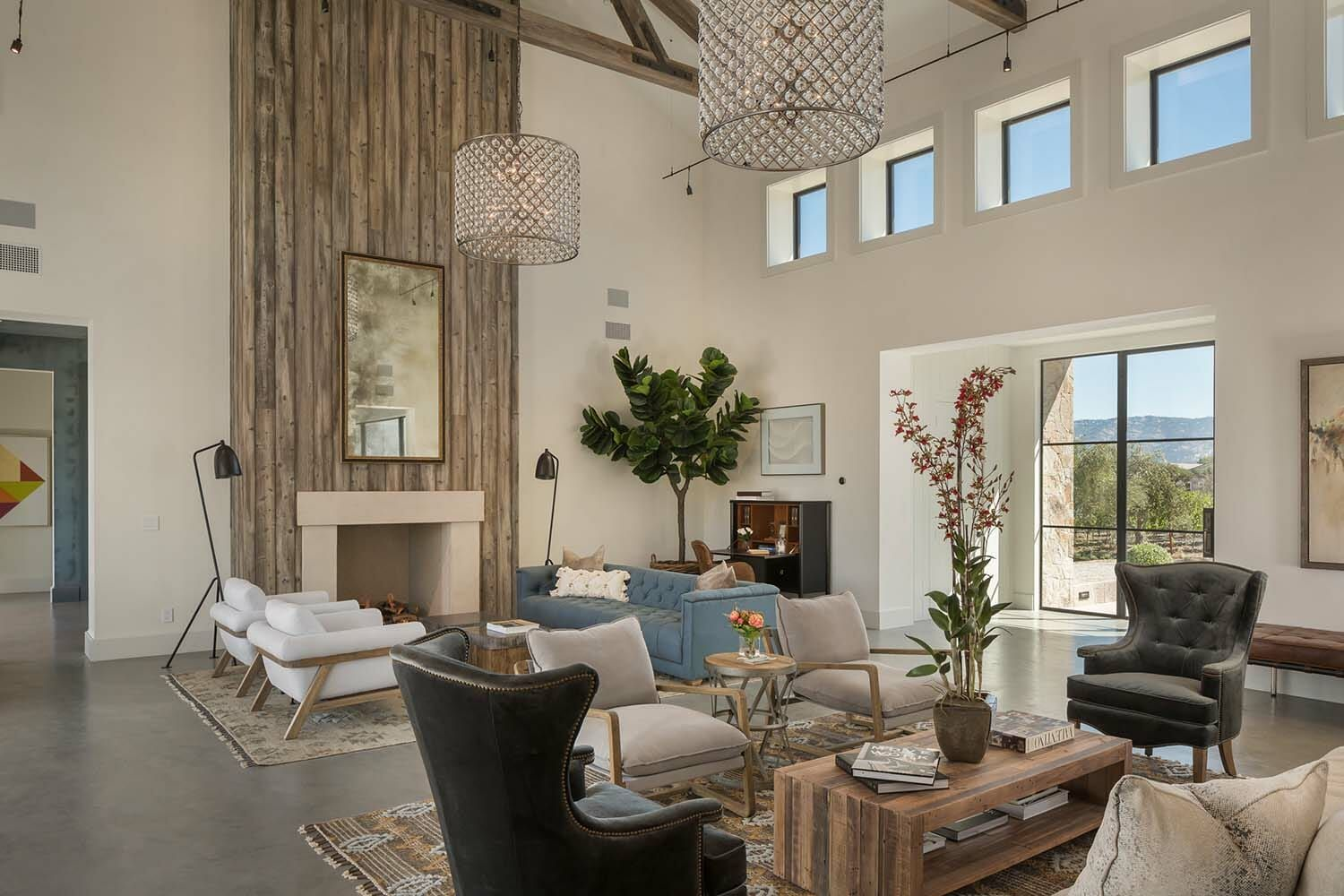 Fresh modern farmhouse style with stunning views of napa wine country