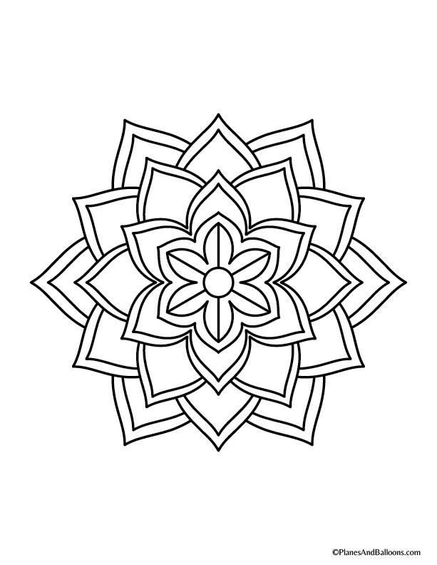 Easy Mandala Coloring Pages Mandala Coloring Pages Simple Mandala Mandala Tattoo Design
