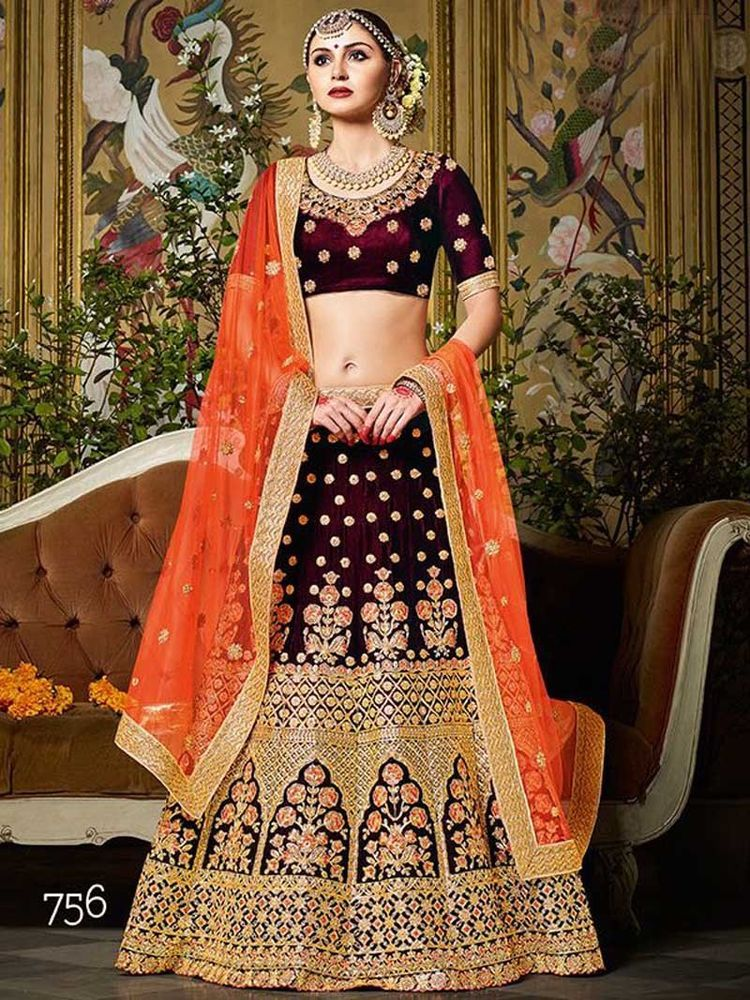 5398dc0a9b bollywood designer indian pakistani wedding bridal velvet lehengas choli  dupatta | Clothing, Shoes & Accessories, Cultural & Ethnic Clothing, India  ...
