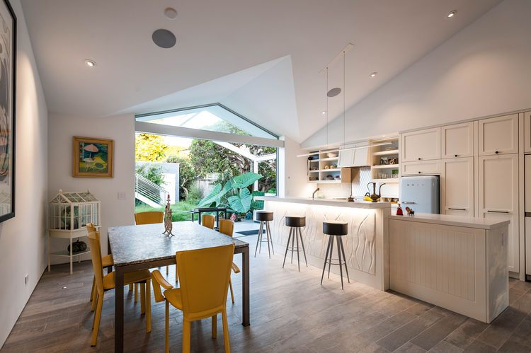 Indoor Outdoor Kitchen Patio Dining Area Of San Diego Renovation By Architects Magnus