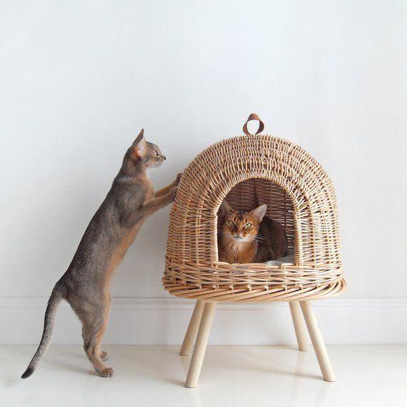 Vine Katzenbett - Haus für Katzen - Wicker Haus für Haustiere - Pet House - Eco handgemachte ... #projectstotry