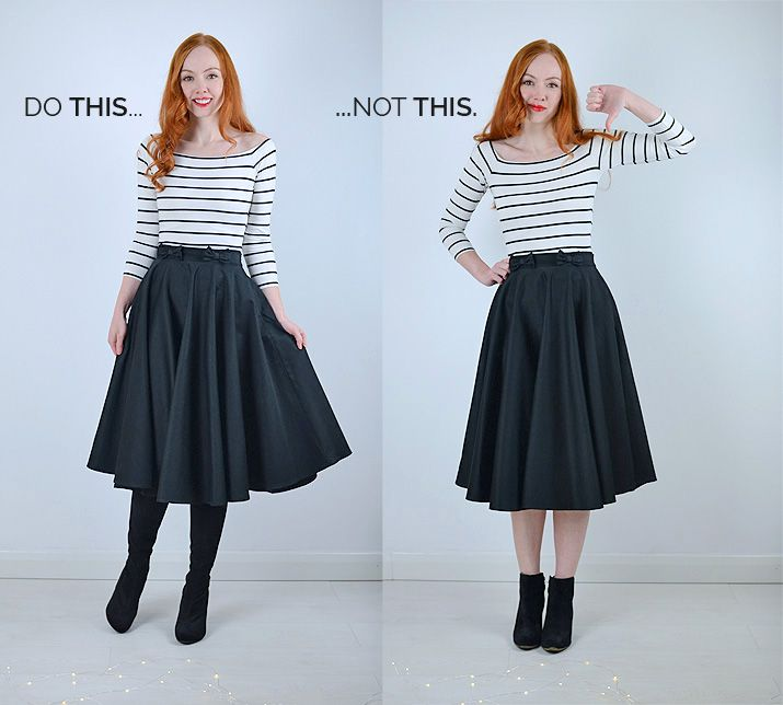 b660df4458 How to Wear a Midi Skirt: An Illustrated Guide | Things to Wear ...