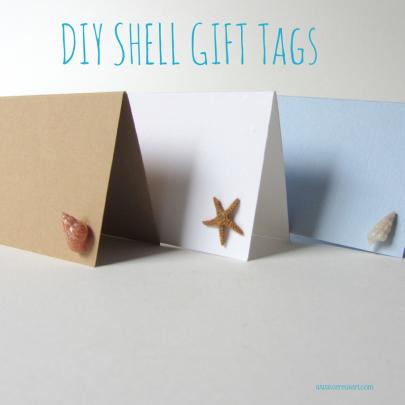 Diy Seashell Gift Tags Seashell Gift Beach Crafts Diy Diy Beach Decor