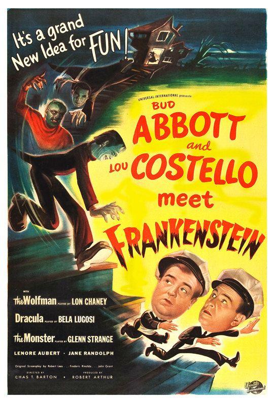 Abbott And Costello Meet Frankenstein Horror Movie By Jangoarts