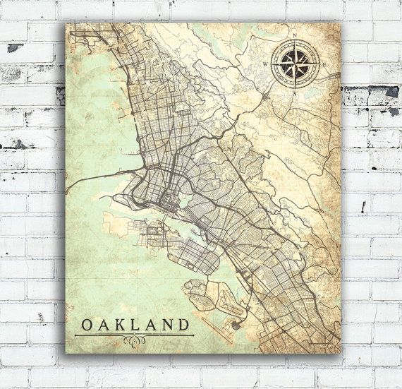Oakland ca canvas print california vintage map oakland vintage oakland canvas print ca california vintage map oakland vintage antique map oakland ca city wall art publicscrutiny Image collections