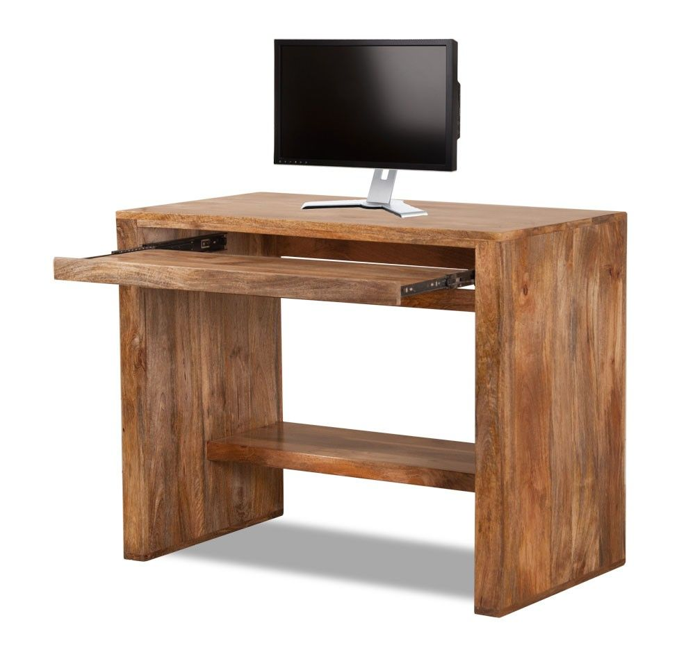 Satara natural mango computer desk desks computer desks for Computer desk furniture