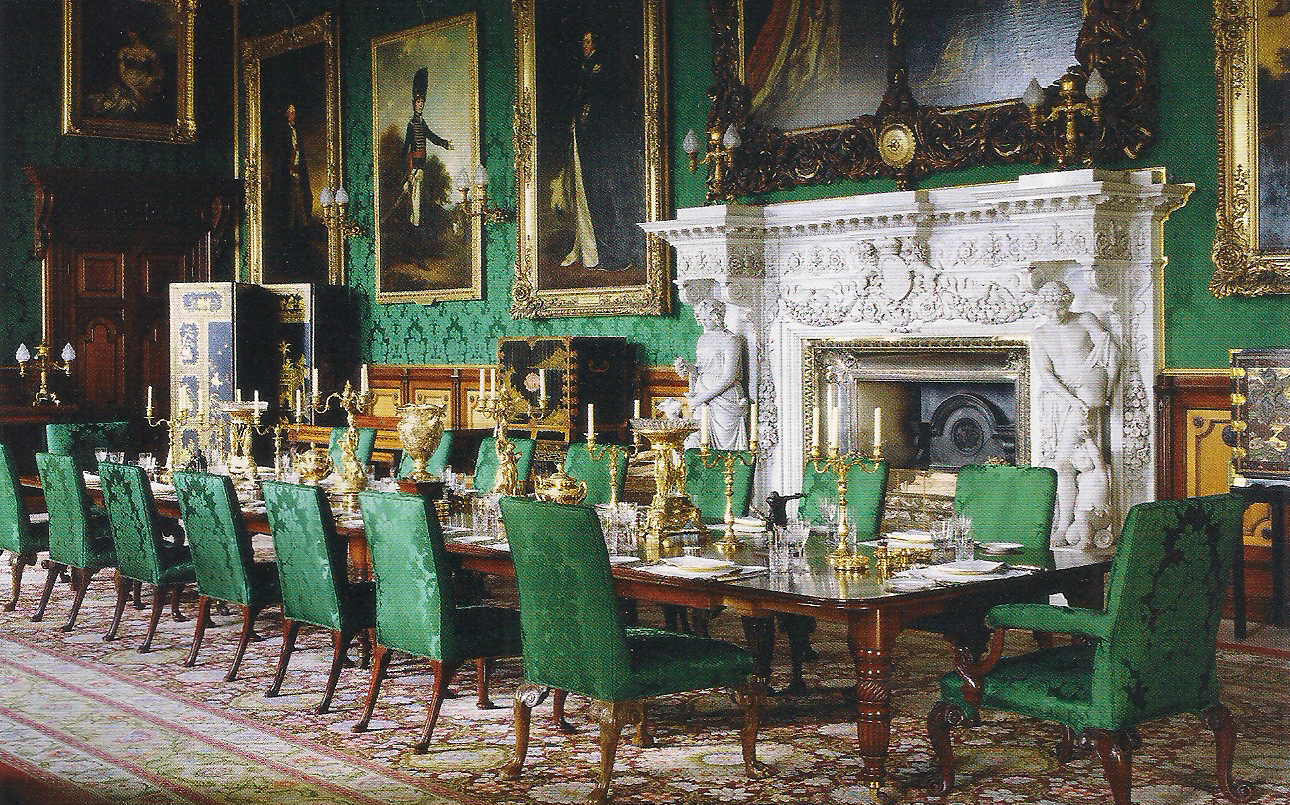 Alnwick Castle Dining Room Historical Buildings Casas