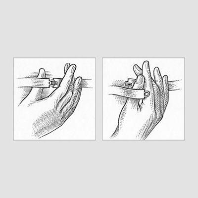 How to undo a bra strap