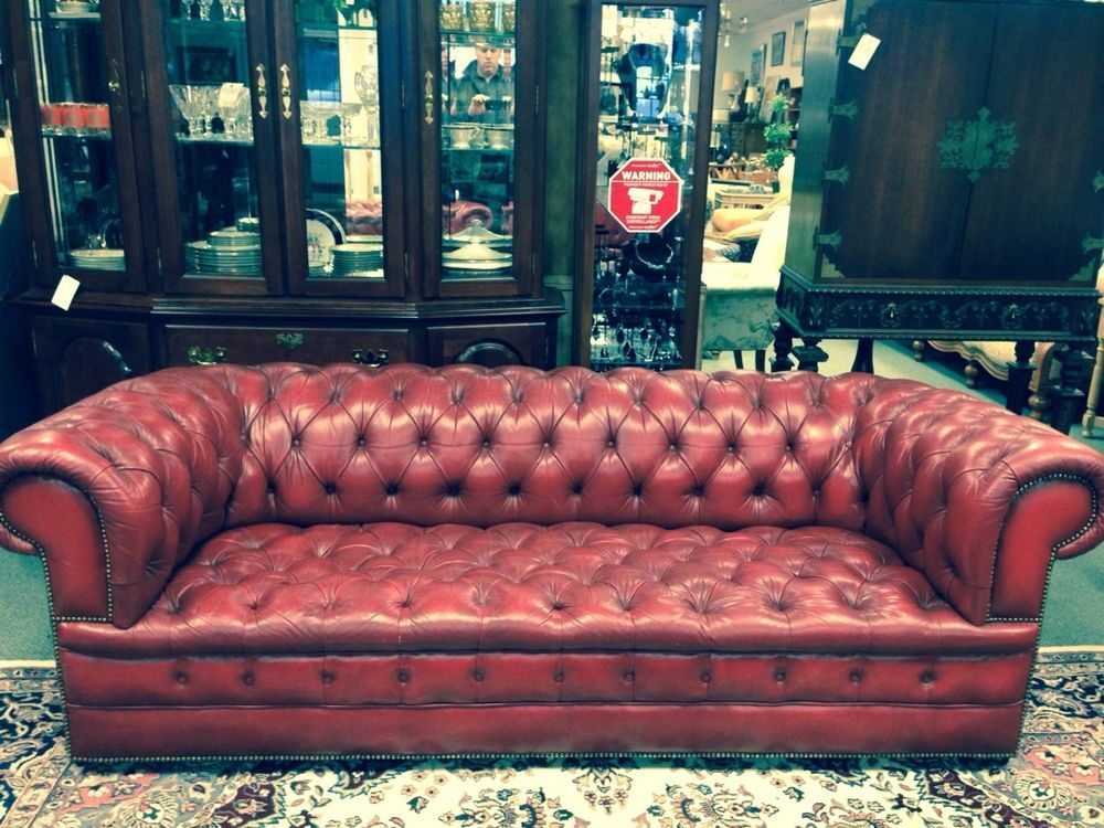 Excellent Magnificent Vintage Chesterfield Nailhead Oxblood Red Cjindustries Chair Design For Home Cjindustriesco