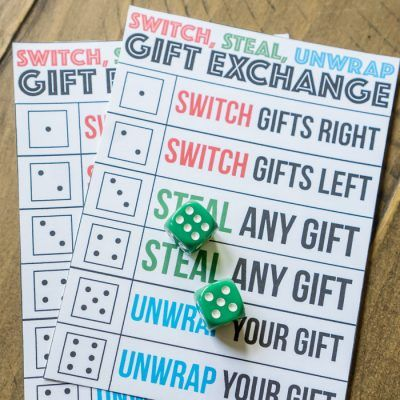 Printable Switch, Steal, Unwrap Gift Exchange Game Idea | Christmas ...