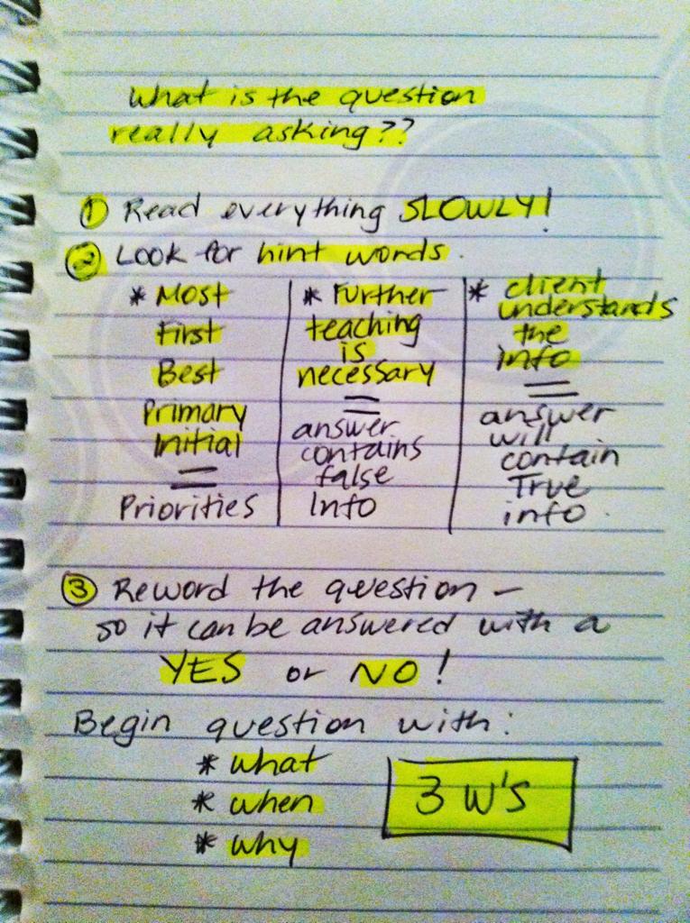 nursing nurse questions board test exam pediatric taking tests question study essay rightatrium college answering strategy rn notes heart calendar