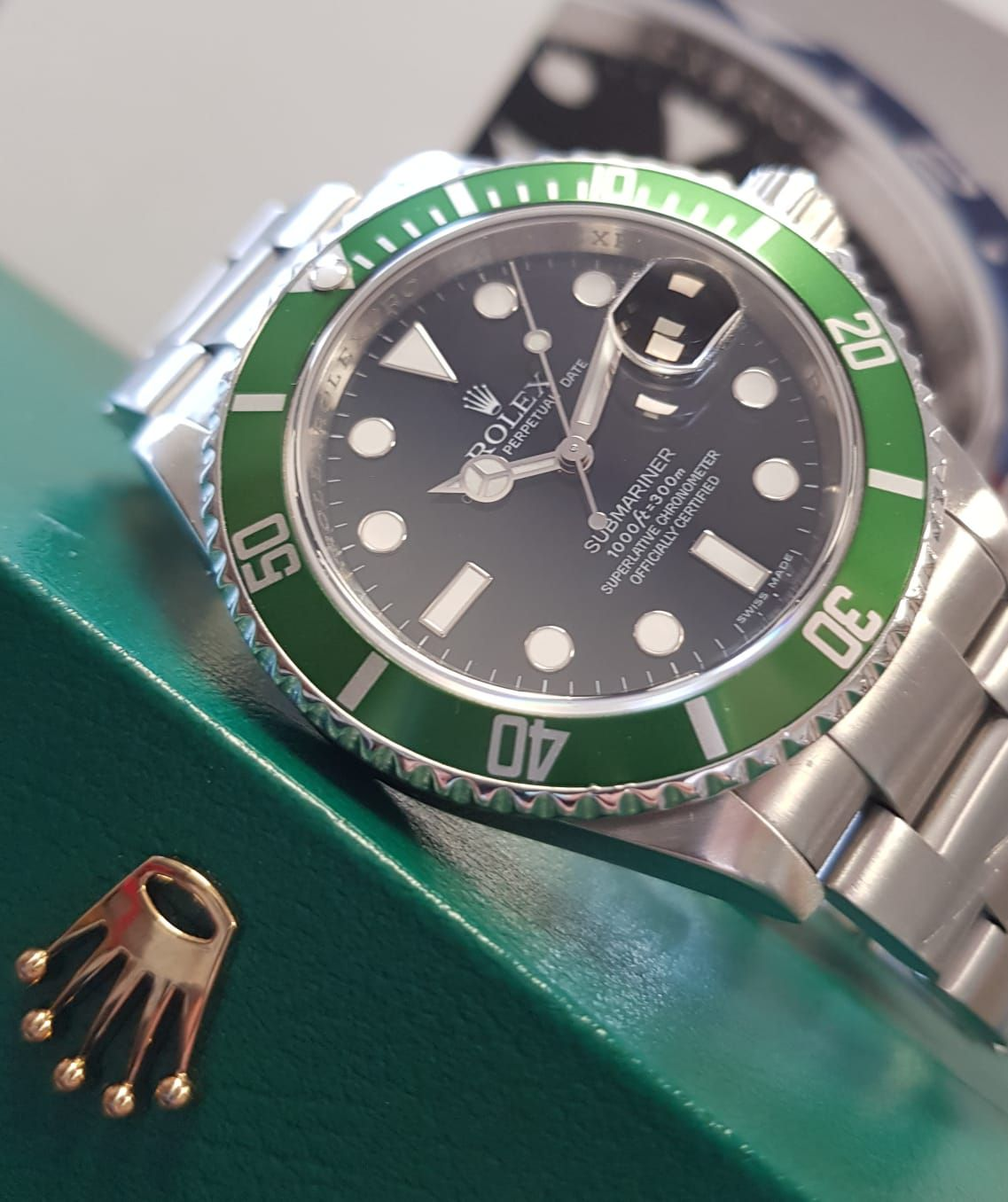 Preowned Rolex Submariner 50th Anniversary Green Bezel