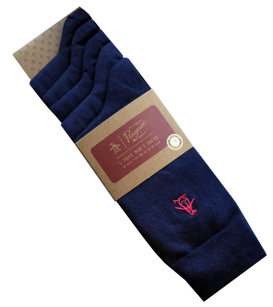SUPERDRY Mens University Patch Athletic Department Tipped Socks Blue One Size