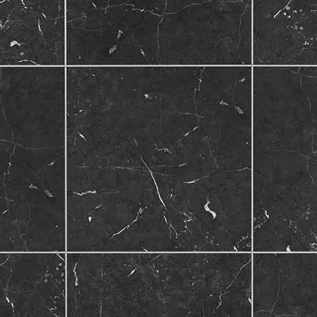 Karndean T74 Midnight Black Marble 12 X12 Black Vinyl Flooring Karndean Knight Tile Black Floor Tiles