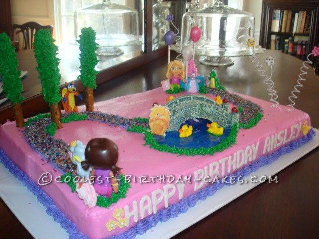Doras Coolest Big Adventure Birthday Cake Birthday cakes and Cake