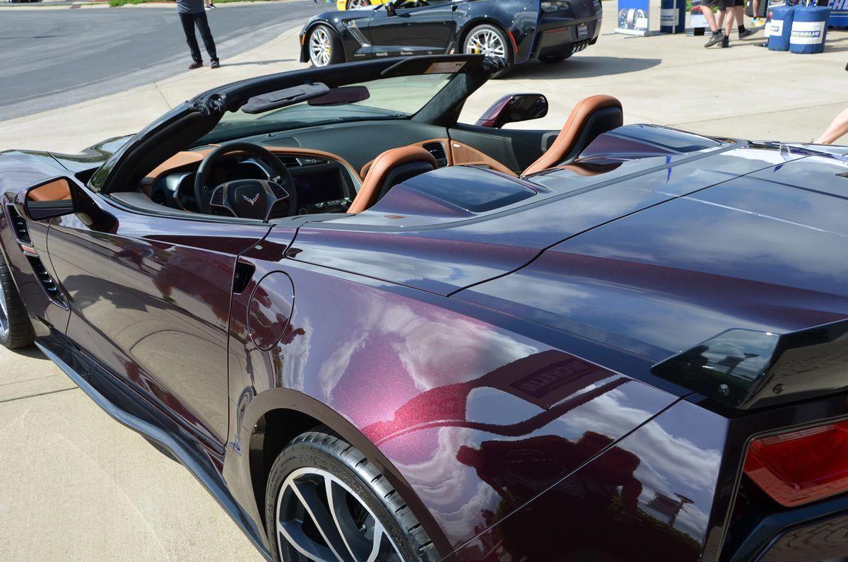 2017 Corvette Grand Sport in Black Rose Metallic taken