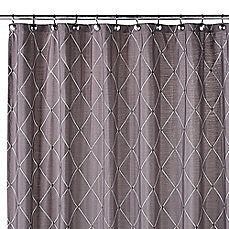 Image Of Wellington Shower Curtain In Grey