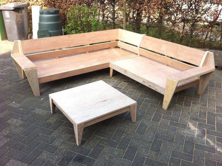 Lounge Bank Tuin : Outdoor big lounge garden sofa leon plans for diy tuinmeubel