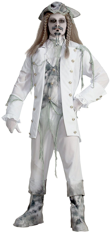 Amazon.com: Forum Novelties Men\'s Ghost Captain Costume, White/Gray ...