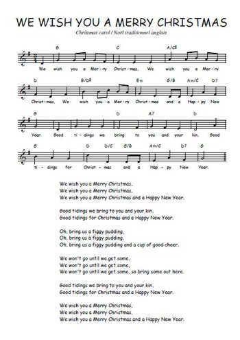 partition musique en anglais