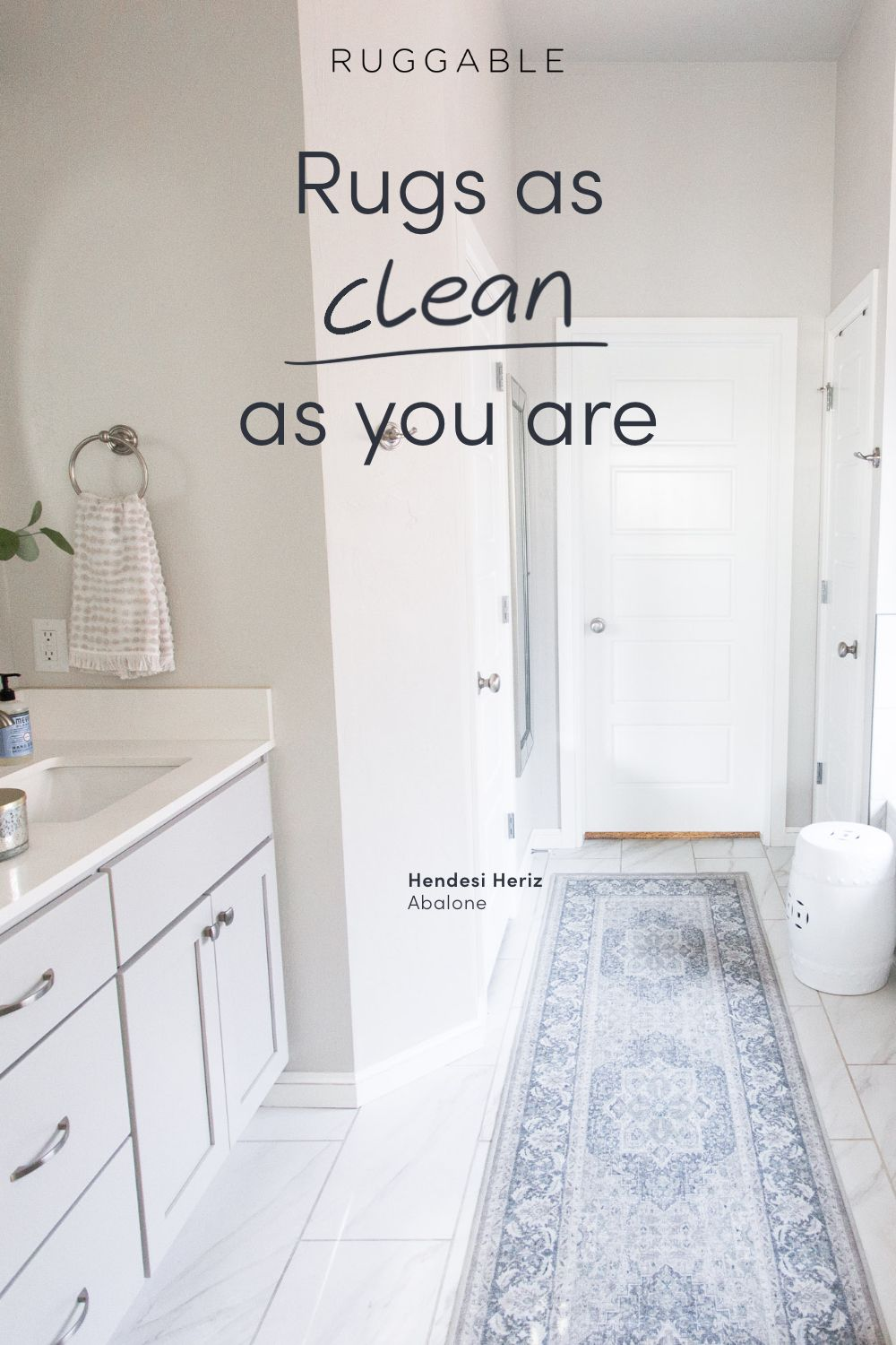 Refresh Your Bathroom With Ruggable Machine Washable Rugs That