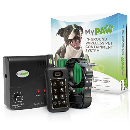Dog Wireless Fences Inground Electric Pet Containment System Waterproof Wireless Electric Dog Fence System With Dog Shock Collar Receiver And Remote Dog Fence