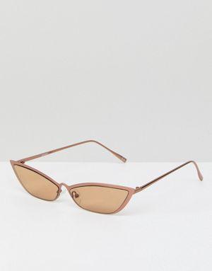 0d1abfffea148 ASOS DESIGN Small Metal Square Cat Fashion Glasses