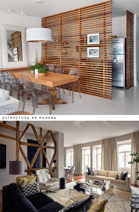 Ideas para dividir los espacios en casa casa pinterest Decoracion de espacios abiertos en casa