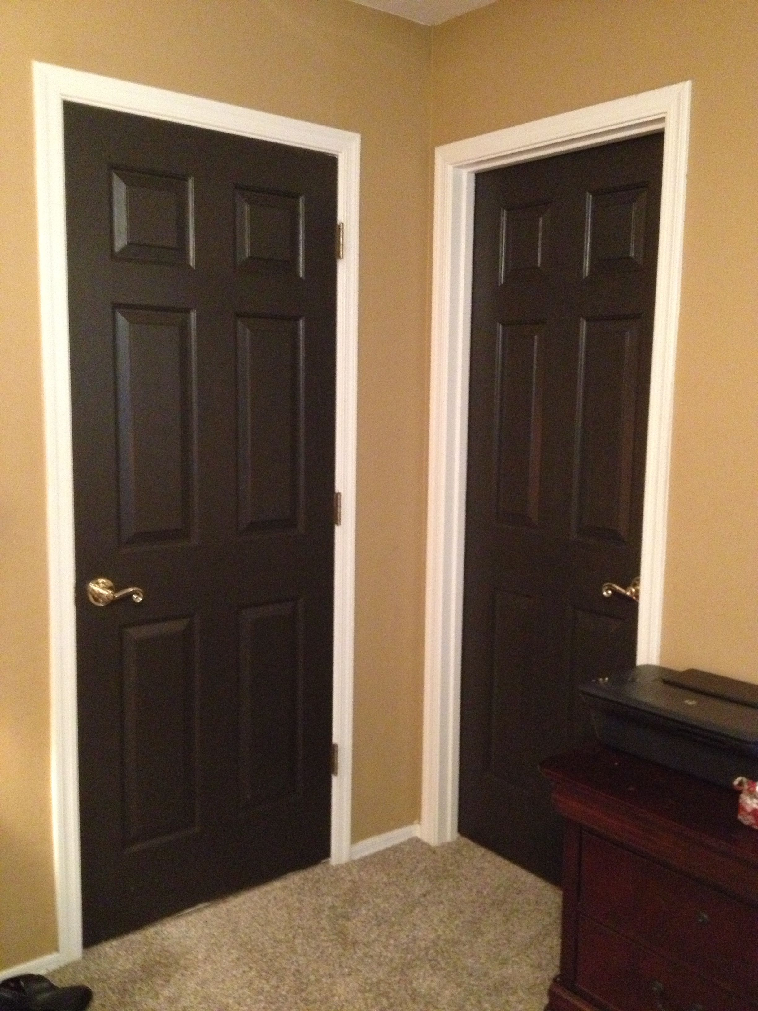 Black interior doors using Stealth Jet by Behr! This is a super dark grey or & Black interior doors using Stealth Jet by Behr! This is a super ... Pezcame.Com