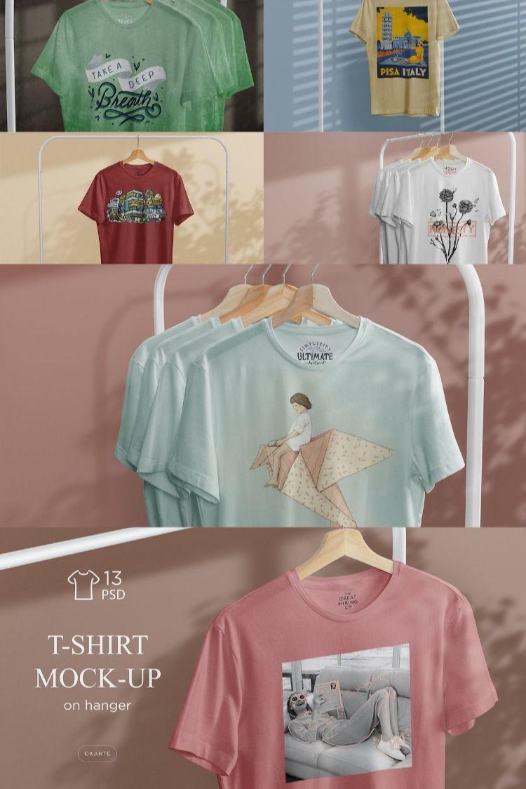 Download T Shirt Mock Up On Hanger Tshirt Mockup Mockup Shirts