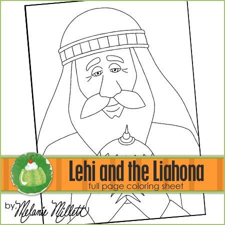 Lehi And The Liahona Printable Coloring Page Printable Coloring