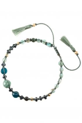 knotted cord bracelet with various gemstones I NEW ONE maya collection I NEWONE-SHOP.COM