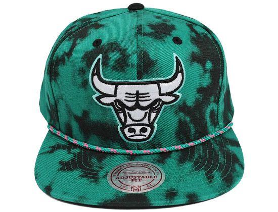 Chicago Bulls Green Acid Wash Snapback Cap by MITCHELL   NESS x NBA Snapback  Cap 0ff1a7c785ba