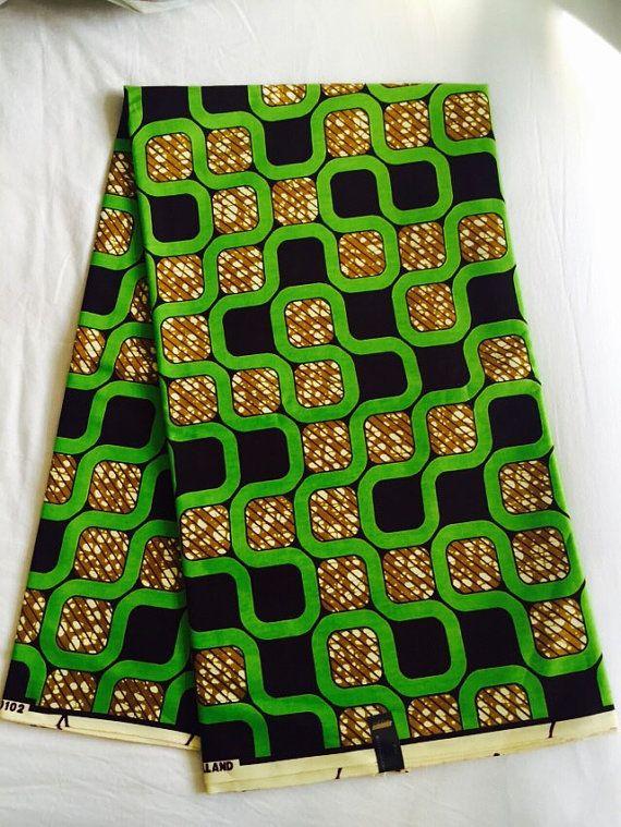 Dashki Fabric African Fashion Ankara Kitenge African: Cream And Brown Dashiki Panel,Angelina Fabric