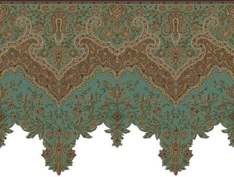 Ankara Wallpaper Border Victorian Wallpaper Wallpaper Companies Turquoise Decor