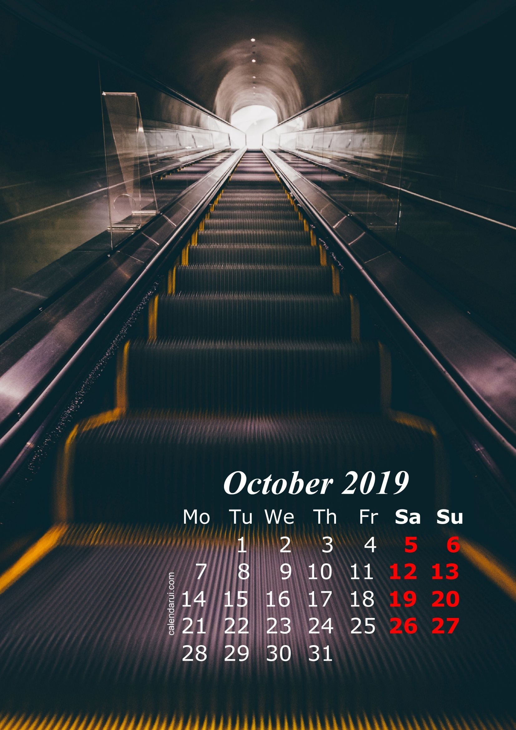 October 2019 iPhone Calendar Wallpaper (With images