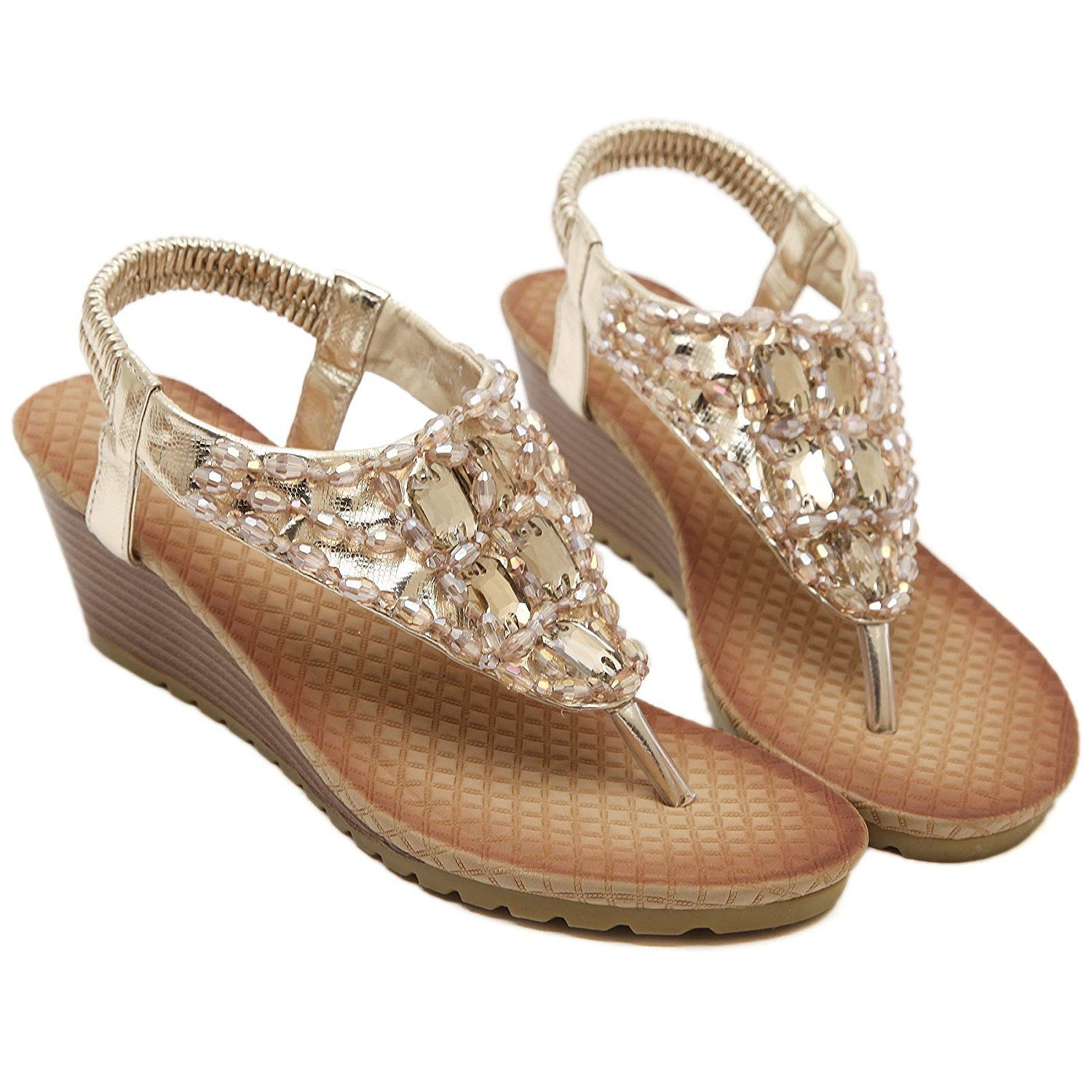 PU Fur Bohemia Slipslop Fashion Sandals Low Heel For Women Euramerican Crystal Y-Shaped 2.1in -- New and awesome product awaits you, Read it now  : Lace up sandals