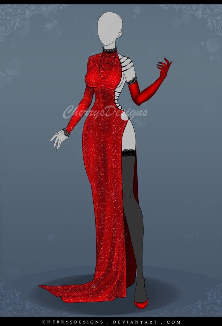 Kursy Shitya Onlajn Anime Dress Dress Sketches Fashion Design Drawings